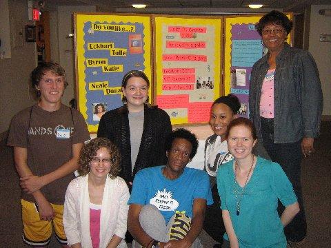 LtoR: David, Savi, Sam, Curtis, Jessica, Sarah, Rev. E